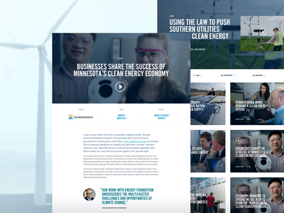From the Field clean energy websites webdesign uidesign ux uxdesign responsive design website design
