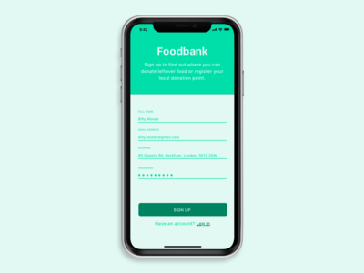 Foodbank Sign Up