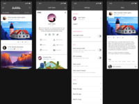 Dribbble iOS App Design Study #1