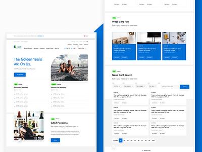 CAAT Pension Plan Website Redesign web app landing page design typography uidesign uxdesign ui website web ux holo