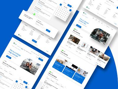 CAAT Pension Plan Website Redesign landing page web app uxdesign uidesign design website ui web ux tennis holo