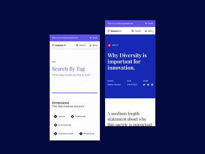 Inclusive Innovation Website typography web app uxdesign uidesign design website ui web ux holo tennis