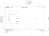 Filtering for digital catalogue