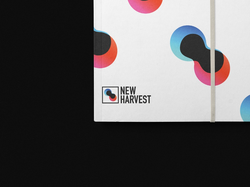 New Harvest Brand Guide book cover mockup typography illustration logo