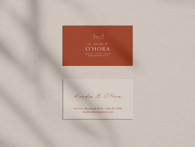 Dr Kendra O'Hora Business Cards + Brand Identity Design graphic design logo small business brand design logo design brand identity business card branding