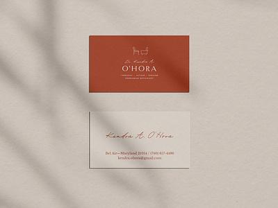Dr Kendra O'Hora Business Cards + Brand Identity Design graphic design logo small business brand design logo design brand identity business card branding