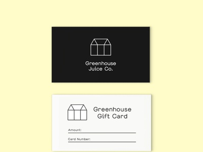 Greenhouse Juice Co. Card Design marketing graphic design small business branding business card design gift card