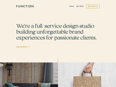 Function Website Homepage Banner web design agency agency branding graphic design small business branding brand identity website design web design webdesign
