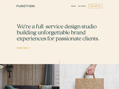 Function Website Homepage Banner web design agency agency branding graphic design small business branding brand identity website design web design webdesign
