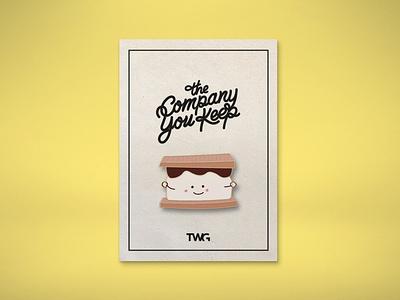 TWG Camp Enamel Pin productdesign packaging package design illustration graphic design