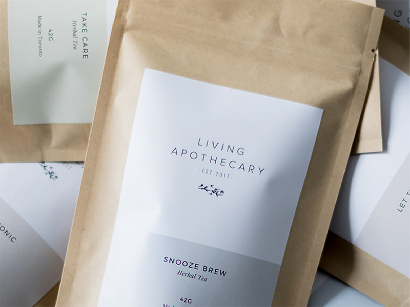 living apothecary packaging label by function creative co dribbble