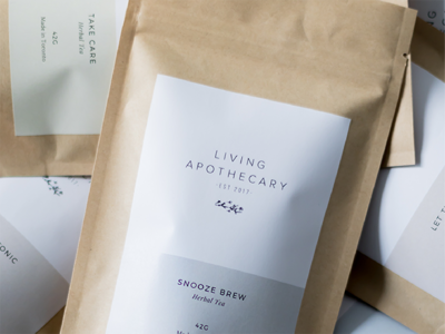 Living Apothecary Packaging Label
