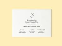 Greenhouse Juice Co Postcard Design