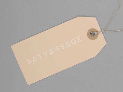Satya + Sage hangtags for packaging