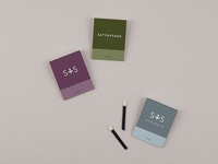 Matchbooks for Satya + Sage
