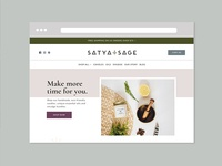 Website Design for Satya + Sage