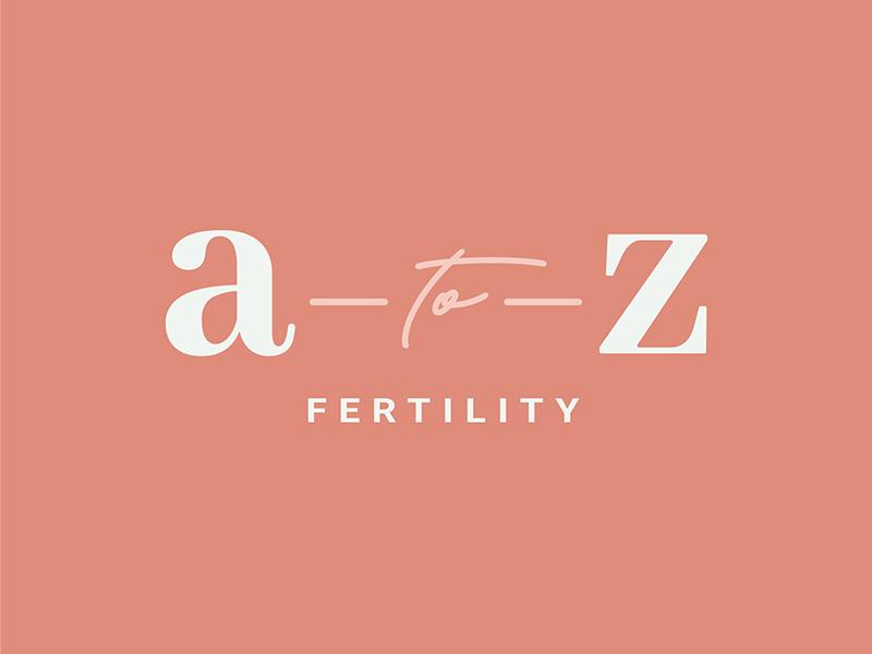 A-to-Z Fertility Logo small business design logo graphic design brand design logo design brand identity branding