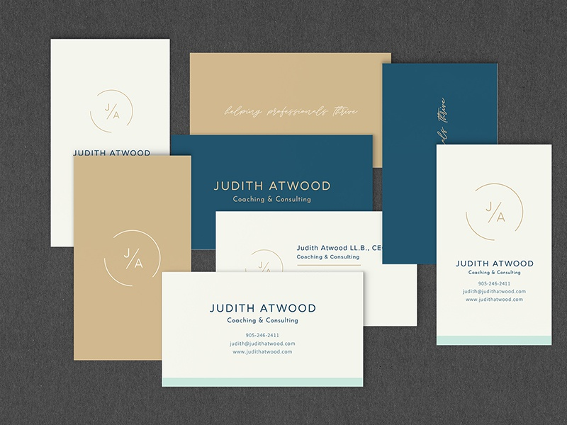 Judith Atwood Business Cards graphic design design small business packaging logo brand design logo design brand identity branding