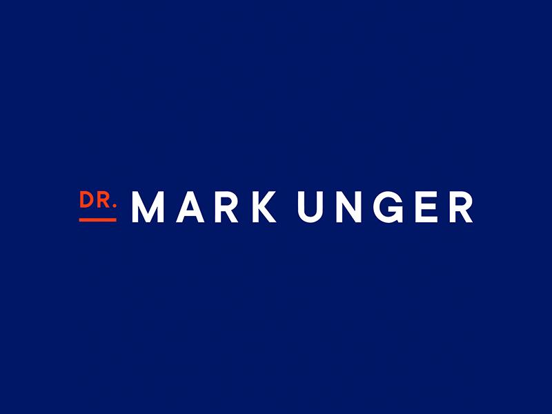 Wordmark for Dr. Mark Unger design small business logo graphic design brand design logo design brand identity branding