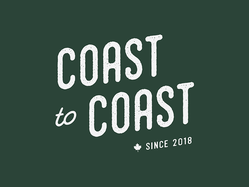 Coast to Coast logo typography design small business logo graphic design brand design logo design brand identity branding