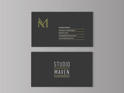 Studio Maven Architecture business cards