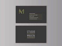 Studio Maven Architecture business cards