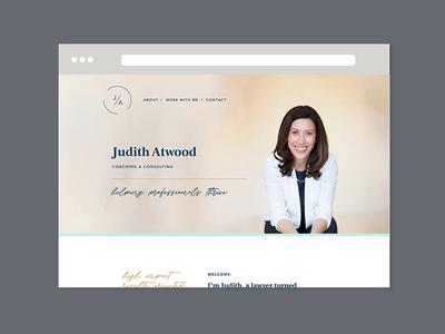 Judith Atwood website website design website design submark small business logo graphic design brand design logo design brand identity branding
