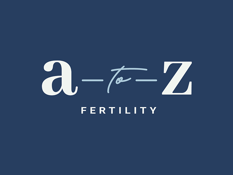 A To Z Fertility Logo design small business logo graphic design brand design logo design brand identity branding