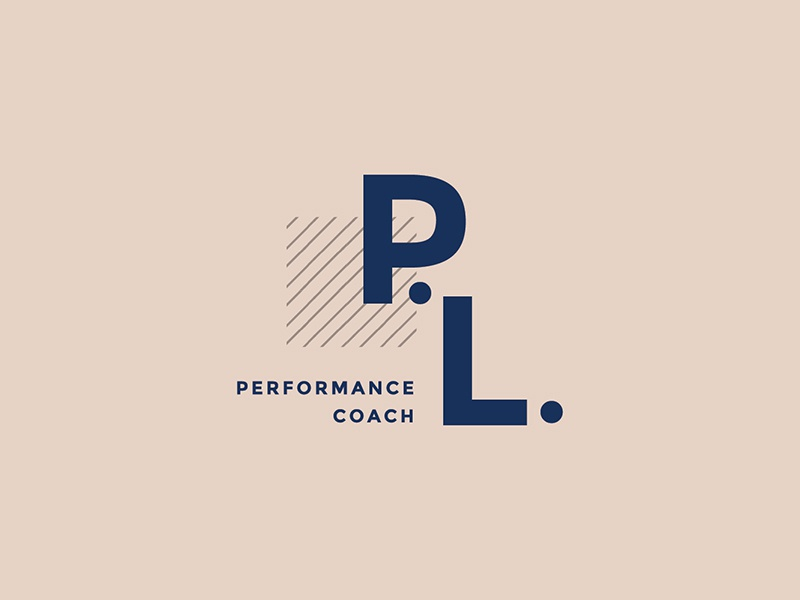 Paige Lawrence Performance Coach submark submark design logo small business graphic design logo design brand design brand identity branding