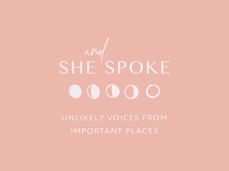 And She Spoke Podcast Logo typography icon design submark design logo small business graphic design logo design brand design brand identity branding