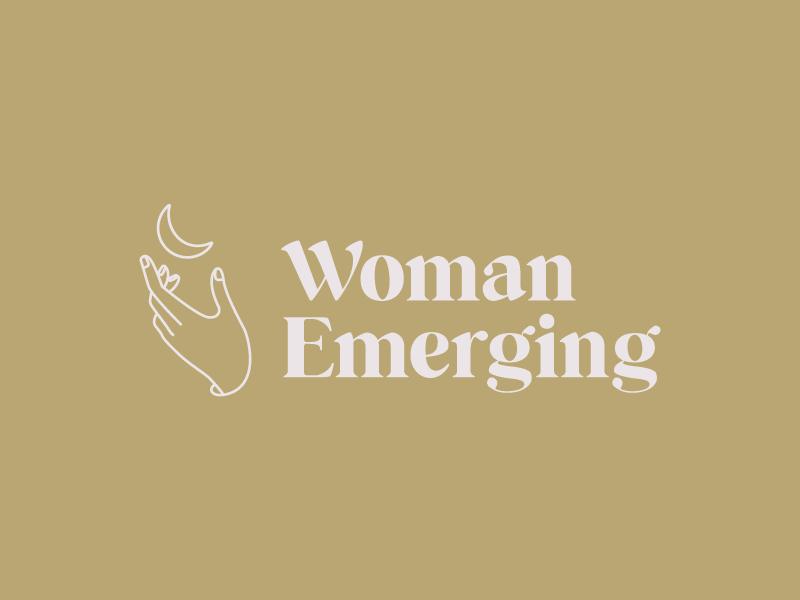 Woman Emerging design submark icon design design logo small business graphic design logo design brand design brand identity branding