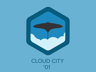 Cloud City Badge star wars badge cloud city icon han solo jabba the hut darth vader luke skywalker clouds chewbacca star wars