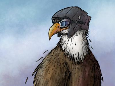 Eagle in Goggles