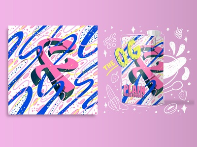 2021 36DOT Series - Letter F mockup packaging yogurt procreate 36 days of type typography intricate hand drawn 3d lettering whimsical illustration hand lettering