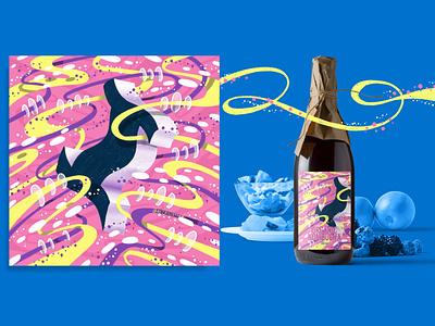2021 36DOT Series - Letter I space pink pattern packaging mockup label bottle drinks kombucha hand drawn alphabet 3d lettering typography 36 days of type illustration hand lettering