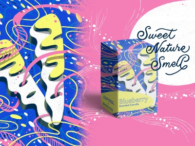 2021 36DOT Series - Letter V ads design design candle box packaging patterns 36 days of type hand drawn typography whimsical illustration hand lettering