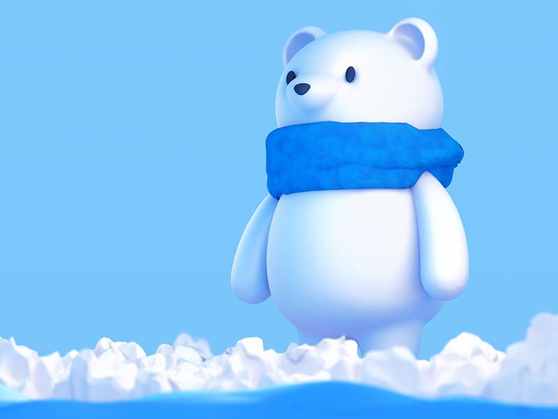 help help Polar Bear c4d bear ice snow north pole arctic polar bear