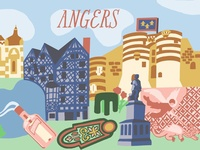 Angers, France Illustration