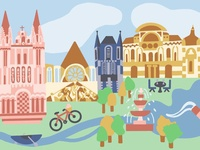 Angers, France Illustration 2
