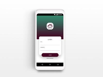 Login page ui ux ali tasbandi design app