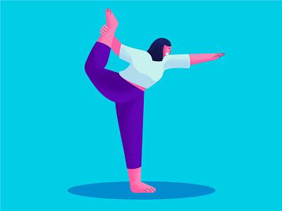 Natrajasana yoga pose yoga vector illustrator vector art adventures ui vector illustrator uidesign art minimal design graphic design illustration