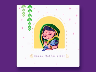 Happy Mother's Day mothers day happymothersday mothersday bold vectorart illustrator vector uidesign minimal art graphic design design illustration