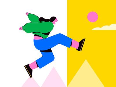 Escape digital illustration marketing illustra marketing webillustration illustrativedesign digitalart adventures bold vectorart minimal illustrator vector art graphic design design illustration