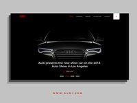 dream-car audi home page design