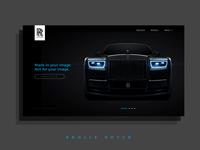 Rolls Royce Home Page Design - Phantom