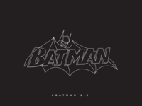 Batman line Illustration 2.0
