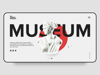 Concept for the DESIGN MUSEUM minimal icon vector site design typography branding web flat ui design