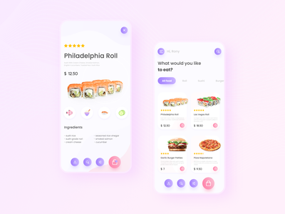 Shot Eat App vector minimal icon app ux color flat illustration ui design