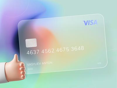 Glass-Effect Card trend 2020 web vector 3d ui design
