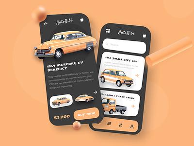 3d App AutoBibi minimal app icon illustration vector 2020 3d ui design